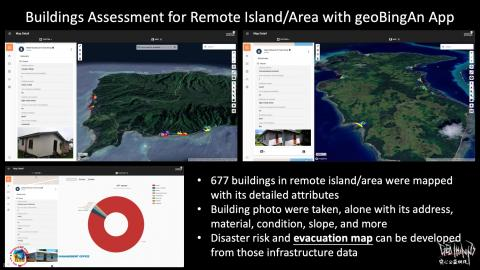 Buildings Assessment for Remote Island/Area with geoBingAn App