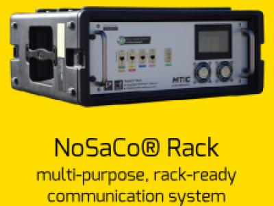 NoSaCo Rack multi-purpose, rack-ready communication system