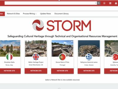 STORM_Collaborative Decision-Making Dashboard_Home Page. It includes the cultural sites which are currently protected, e.g. Diocletian Baths (Rome, Italy), Rethymno historical centre (Crete, Greece), Ephesus (Anatolia, Turkey)))