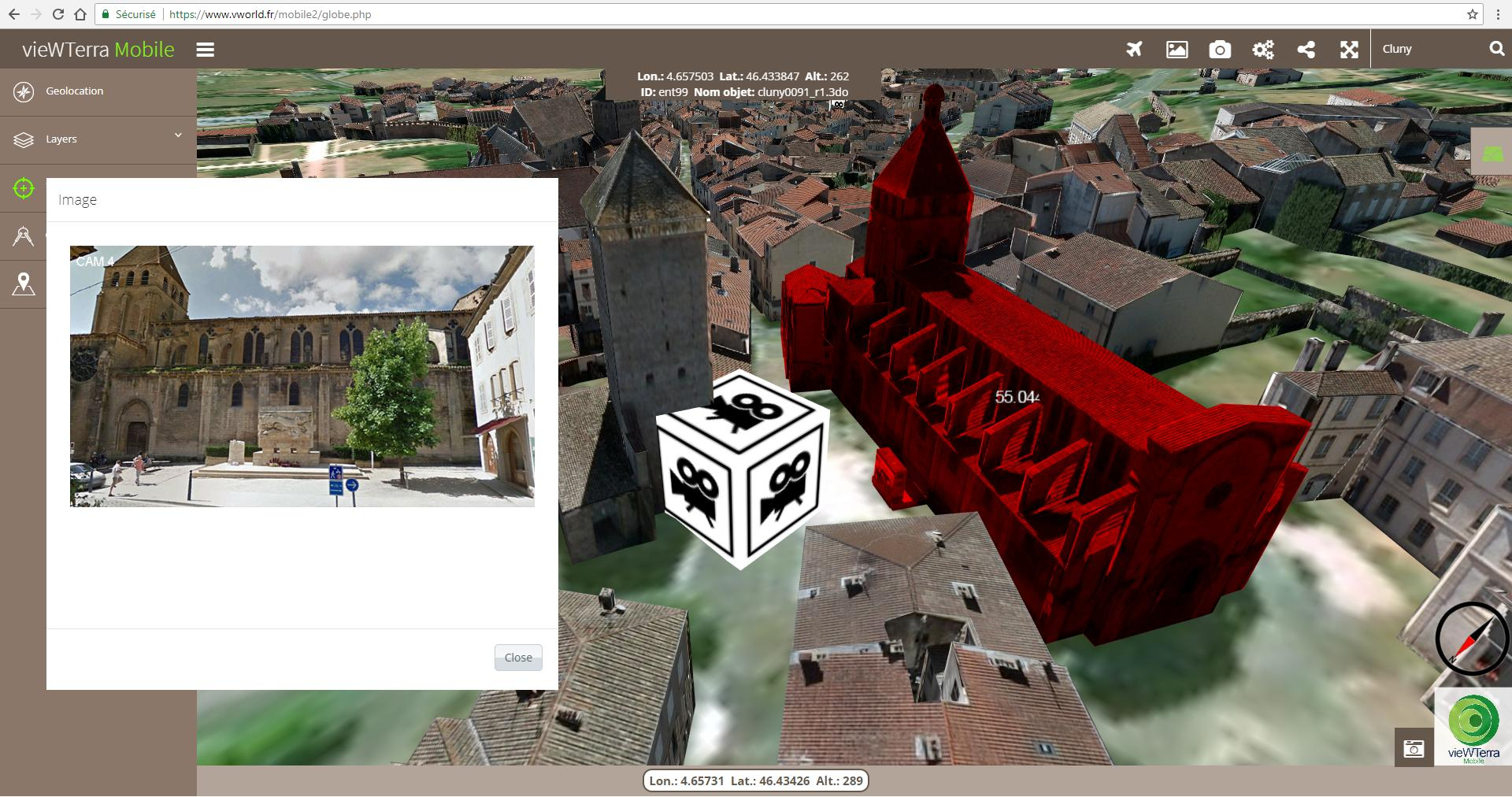 vieWTerra Mobile 3D Earth Viewer-applikationen