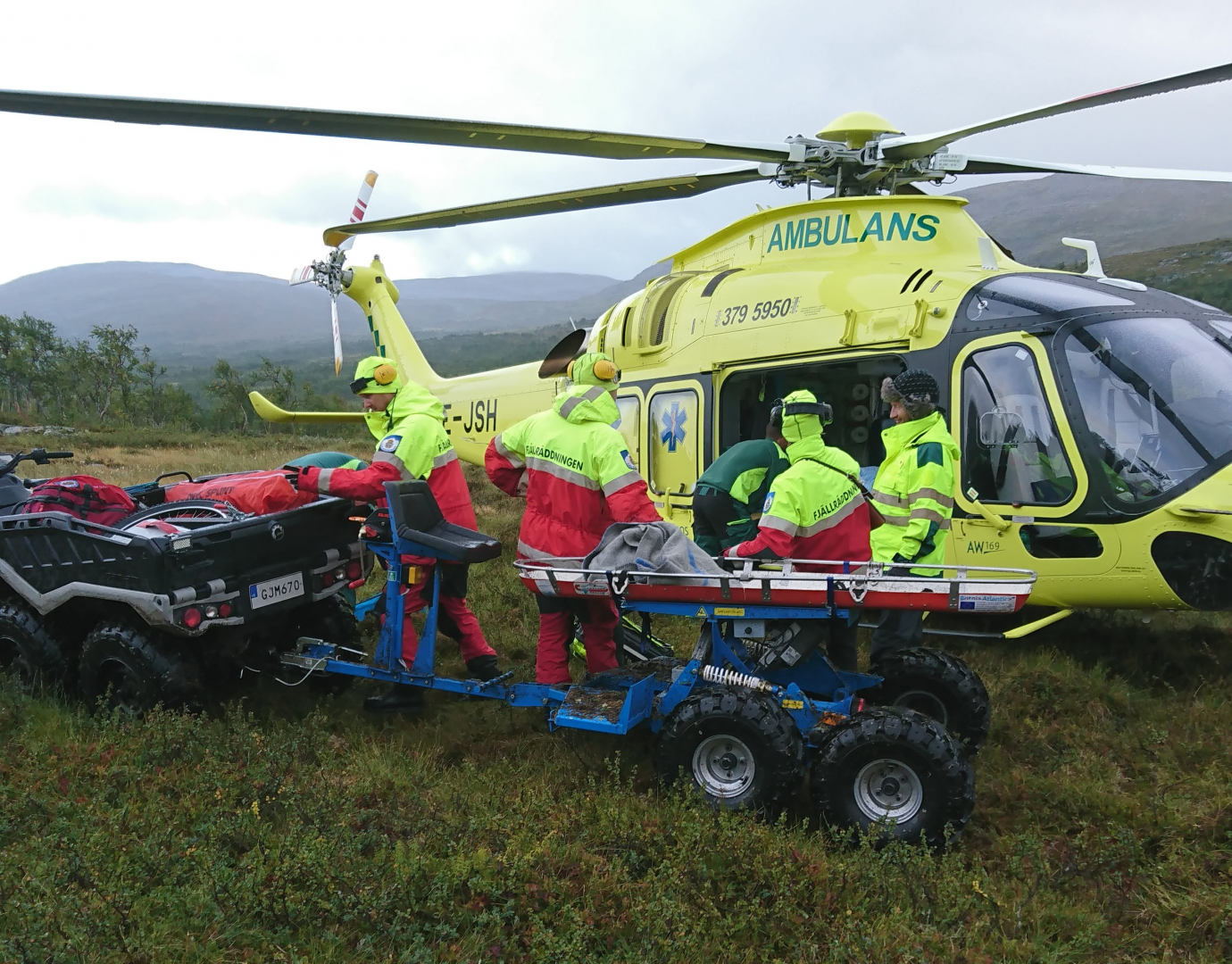 Mountain rescue mission in Sweden