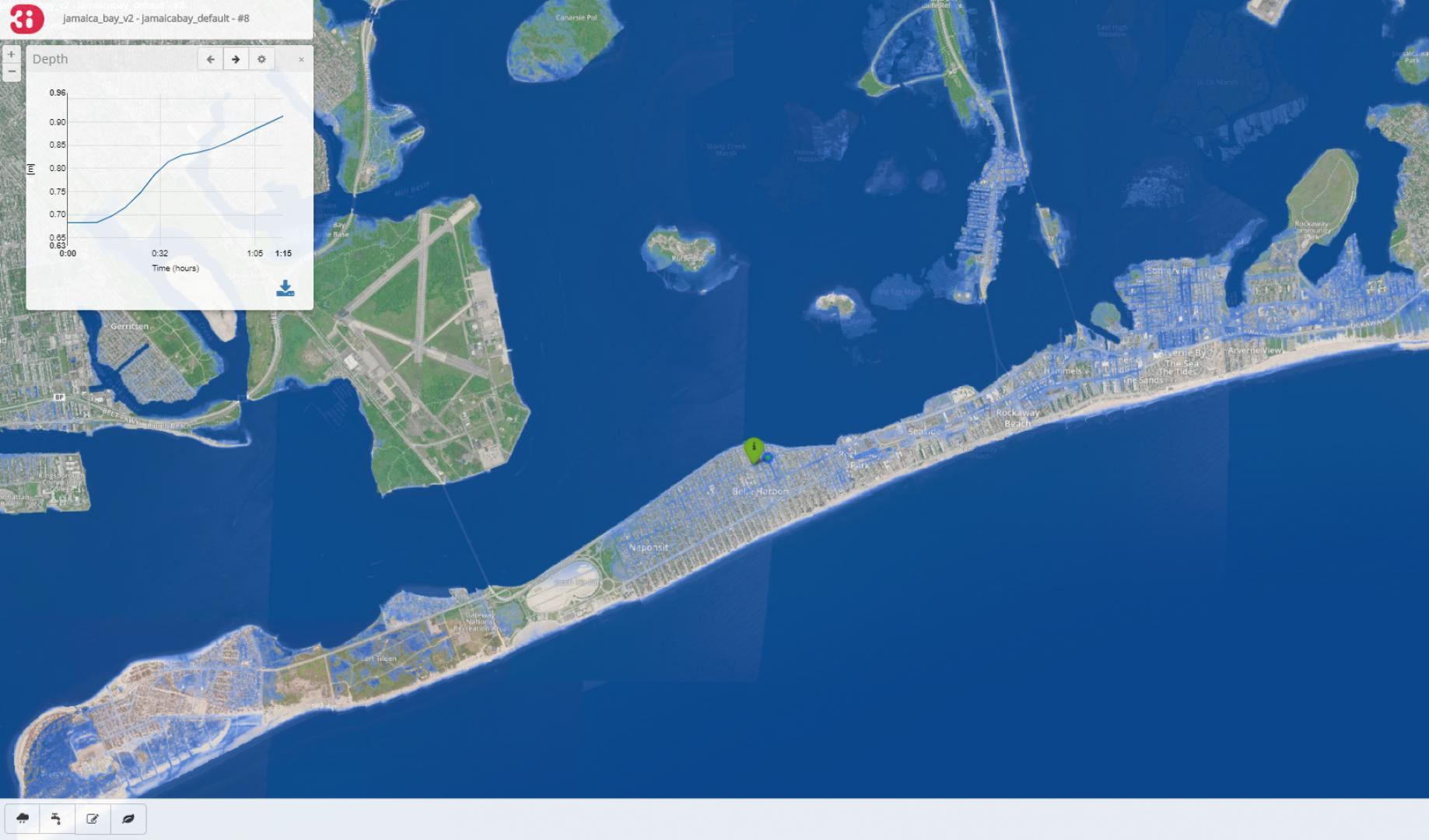 Flood model of Jamaica Bay, New York