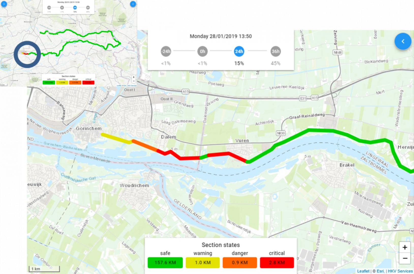 Real Time Flood Risk Assessement Viewer - levees